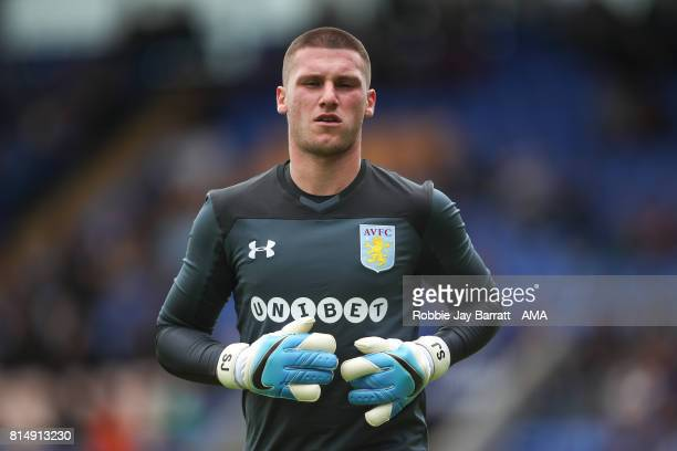 Sam Johnstone of Aston Villa during the preseason friendly match between Shrewsbury Town and Aston Villa at Greenhous Meadow on July 15 2017 in...