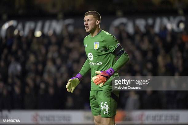 Sam Johnstone of Aston Villa during the Sky Bet Championship match between Wolverhampton Wanderers and Aston Villa at Molineux on January 14 2017 in...