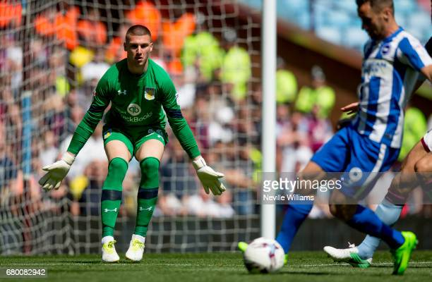 Sam Johnstone of Aston Villa during the Sky Bet Championship match between Aston Villa and Brighton Hove Albion at Villa Park on May 07 2017 in...