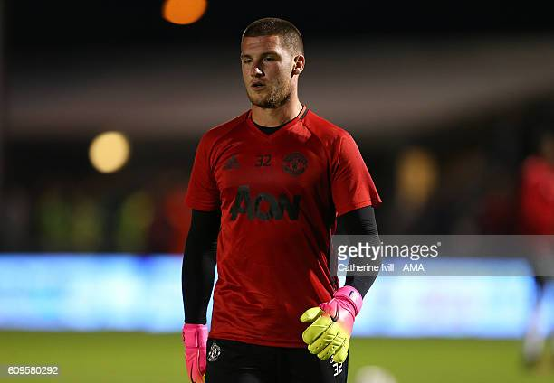 Sam Johnstone of Manchester United during the EFL Cup match between Northampton Town and Manchester United at Sixfields on September 21 2016 in...