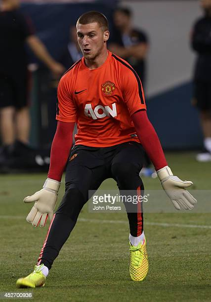 Sam Johnstone of Manchester United in action during an open training session as part of their preseason tour of the United States at Sports Authority...