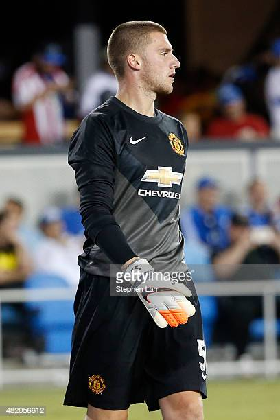 Sam Johnstone of Manchester United seen on the field during the second half of his International Champions Cup match against San Jose Earthquakes on...