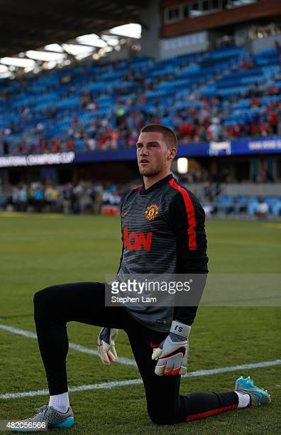 Sam Johnstone of Manchester United stretches on the field before his International Champions Cup match against San Jose Earthquakes on July 21 2015...