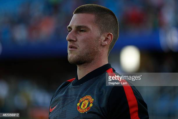Sam Johnstone of Manchester United warms up on the field before his International Champions Cup match against San Jose Earthquakes on July 21 2015 at...