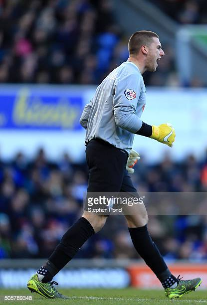 Sam Johnstone of Preston North End during the Sky Bet Championship match between Ipswich Town and Preston North End at Portman Road on January 16...