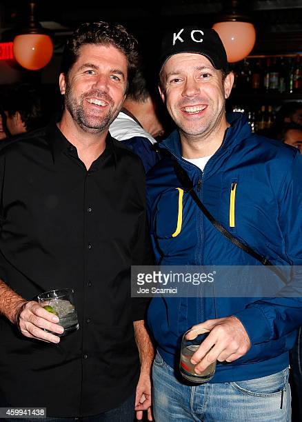 Sam Jones and actor Jason Sudeikis attend DIRECTV Celebrates 'Off Camera With Sam Jones' on December 3 2014 in Los Angeles California