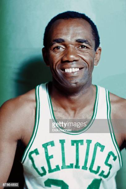 Sam Jones of the Boston Celtics poses for a portrait in 1968 at the Boston Garden in Boston Massachusetts NOTE TO USER User expressly acknowledges...
