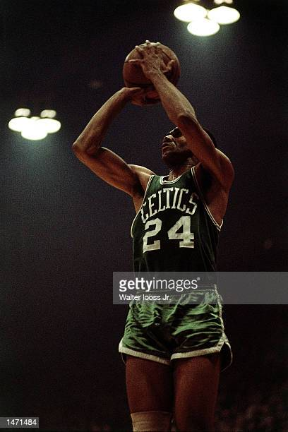 Sam jones of the Boston Celtics shoots a jumpshot during an NBA game in 1970 NOTE TO USER User expressly acknowledges and agrees that by downloading...