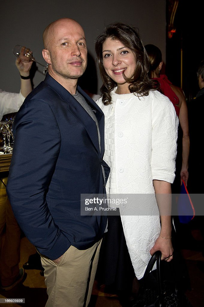 Sam Keller and Guest attend a private View and VE-Day Party For Calder After The War at Pace London Gallery on April 18, 2013 in London, England.