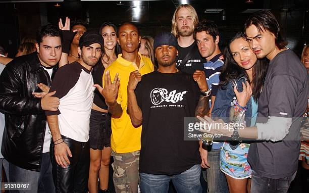 Sam Keywanfar Vanessa Marquez Pharrell Williams Ravi and Trashy Lingerie Girls and party guests