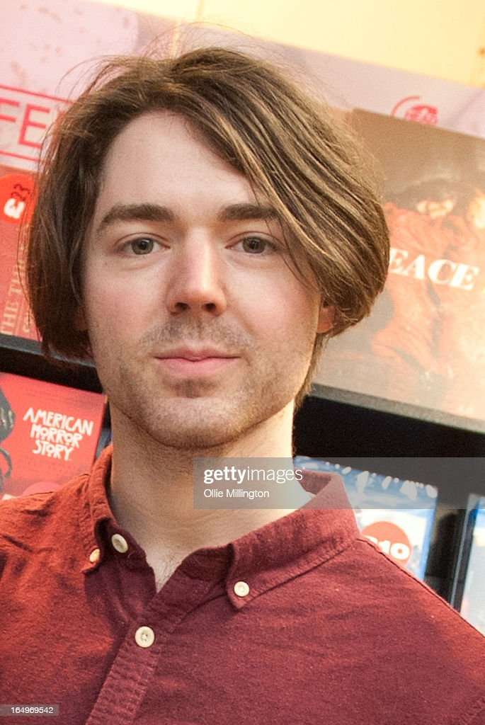 Sam Koisser of Peace poses for a photograph after their instore gig at Head Records to promote the release of their debut album 'In Love' on March 29, 2013 in Leamington Spa, England.