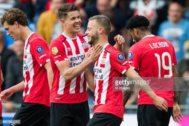 Sam Lammers of PSV Marco van Ginkel of PSV Bart Ramselaar of PSV Jurgen Locadia of PSVduring the Dutch Eredivisie match between PSV Eindhoven and PEC...