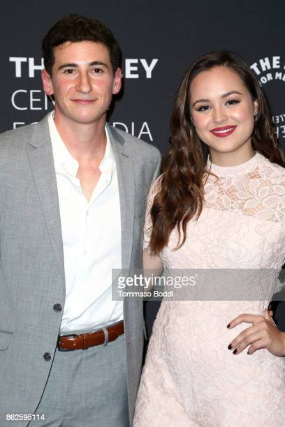 Sam Lerner and Hayley Orrantia attends the Paley Center For Media Presents 'The Goldbergs' 100th Episode Celebration at The Paley Center for Media on...