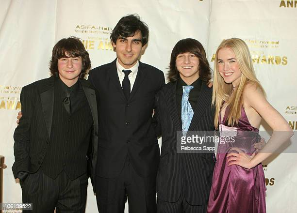 Sam Lerner Gil Kenan director of 'Monster House' Mitchel Musso and Spencer Locke
