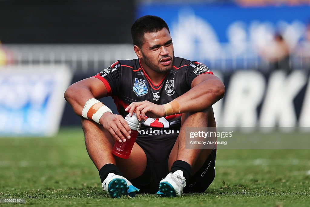 Sam Lisone of the Warriors looks on after the round nine NSW Intrust Super Cup Premiership match between the New Zealand Warriors and the Canterbury Bankstown Bulldogs at Mt Smart Stadium on May 1, 2016 in Auckland, New Zealand.