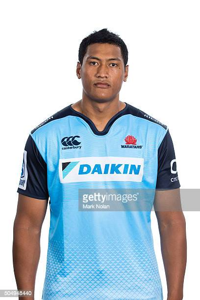 Sam Lousi poses during the Waratahs 2016 Super Rugby headshots session at Allianz Stadium on January 14 2016 in Sydney Australia