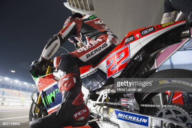 Sam Lowes of Great Britain and Aprilia Racing Team Gresini starts from box during the MotoGP Tests In Losail at Losail Circuit on March 11 2017 in...