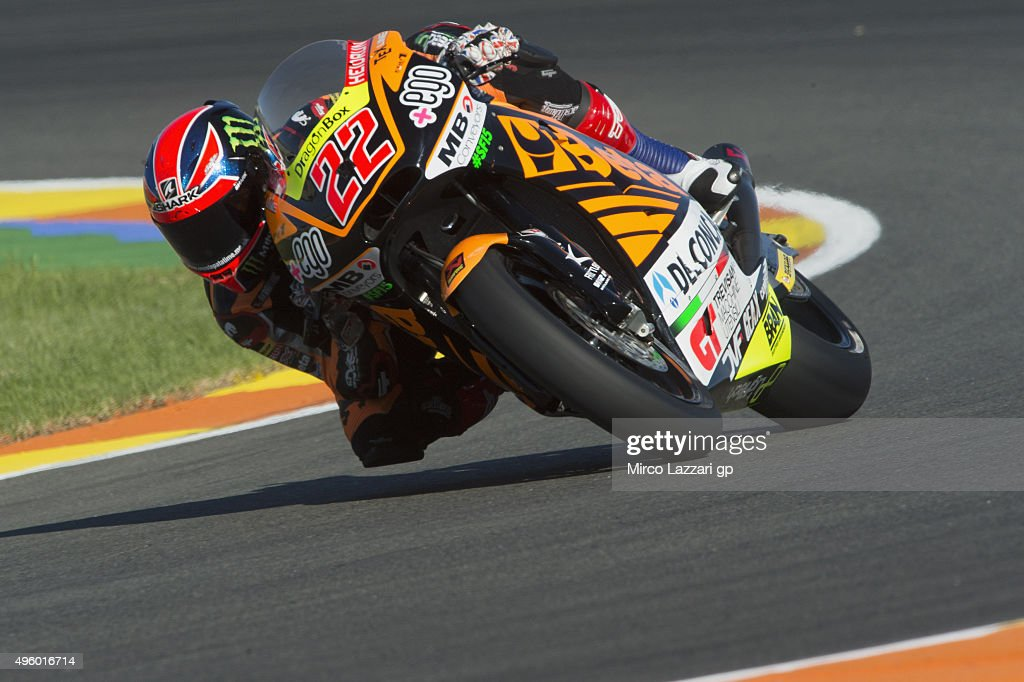 Sam Lowes of Great Britain and Speed Up rounds the bend during the GP of Valencia Free Practice at Ricardo Tormo Circuit on November 6 2015 in...