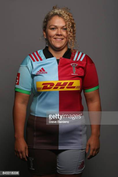 Sam McCarthy of Harlequins Ladies poses for a portrait during the Harlequins Ladies Squad Photo call for the 2017/18 Tyrrells Premier 15s Season at...