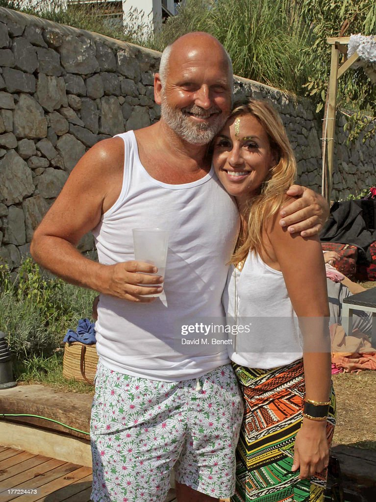 Sam McKnight (L) and Melanie Blatt attend the Ibiza Summer Party at Can Batista on August 22, 2013 in Ibiza, Spain.