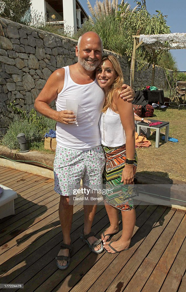 Sam McKnight (L) and <a gi-track='captionPersonalityLinkClicked' href=/galleries/search?phrase=Melanie+Blatt&family=editorial&specificpeople=708098 ng-click='$event.stopPropagation()'>Melanie Blatt</a> attend the Ibiza Summer Party at Can Batista on August 22, 2013 in Ibiza, Spain.