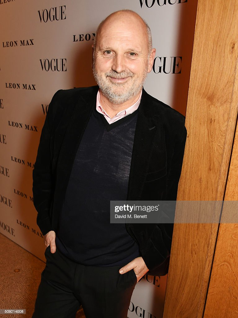Sam McKnight attends a private view of 'Vogue 100: A Century of Style' hosted by Alexandra Shulman and Leon Max at the National Portrait Gallery on February 9, 2016 in London, England.