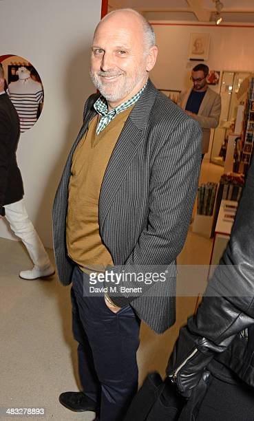 Sam McKnight attends an exclusive reception for 'The Fashion World of Jean Paul Gaultier From the Sidewalk to the Catwalk' showing at the Barbican...