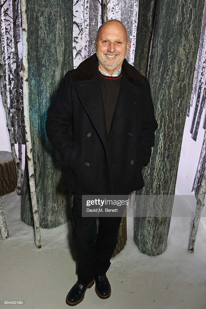 Sam McKnight attends Claridge's Christmas Tree 2016 Party, with tree designed by Sir Jony Ive and Marc Newson, at Claridge's Hotel on November 19, 2016 in London, England.