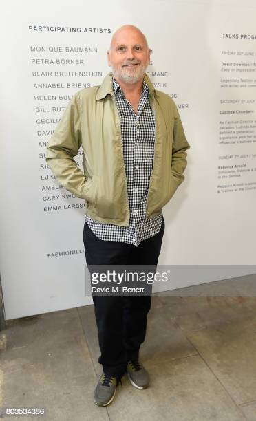 Sam McKnight attends the Fashion Illustration Gallery Art Fair private view at The Shop at Bluebird cohosted b Lucinda Chambers and Wendy Yu on June...