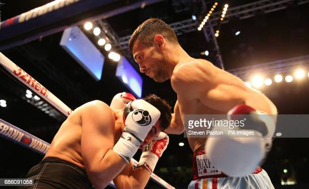 Sam McNess and Zaurs Sadihovs in the International SuperWelterweight Contest at The Copper Box London PRESS ASSOCIATION Photo Picture date Saturday...