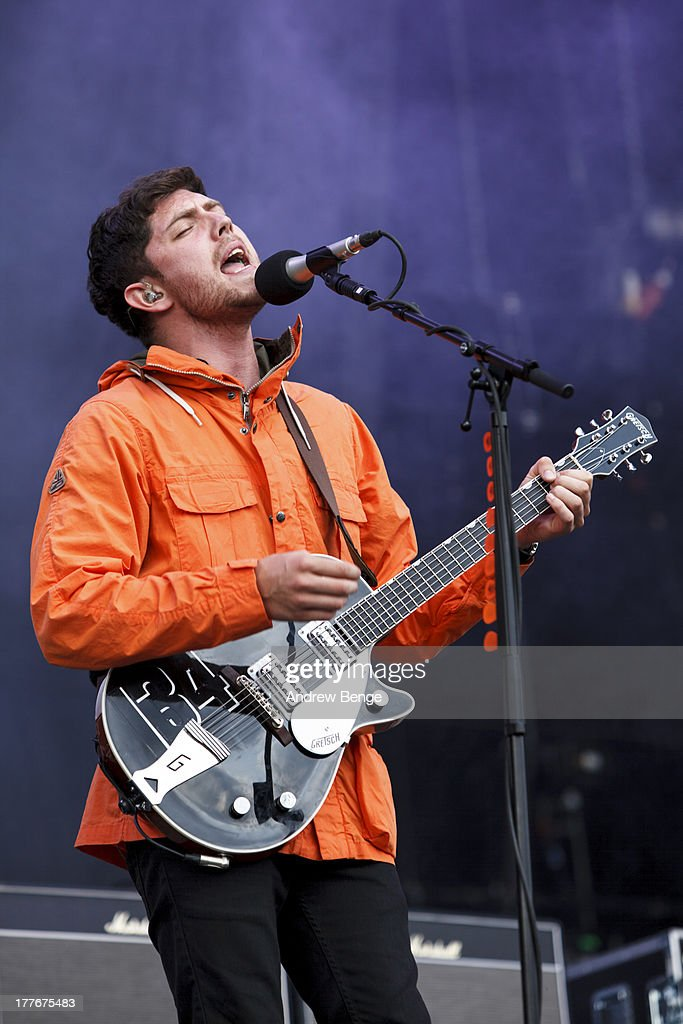 Sam McTrusty of Twin Atlantic performs on stage on Day 3 of Leeds Festival 2013 at Bramham Park on August 25, 2013 in Leeds, England.