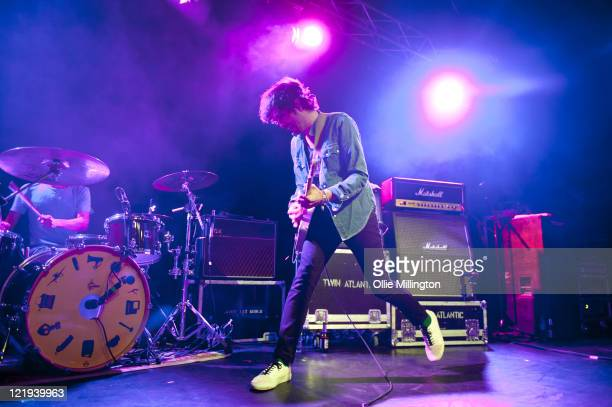 Sam McTrusty of Twin Atlantic performs onstage supporting Jimmy Eat World at o2 Academy on August 23 2011 in Leicester United Kingdom
