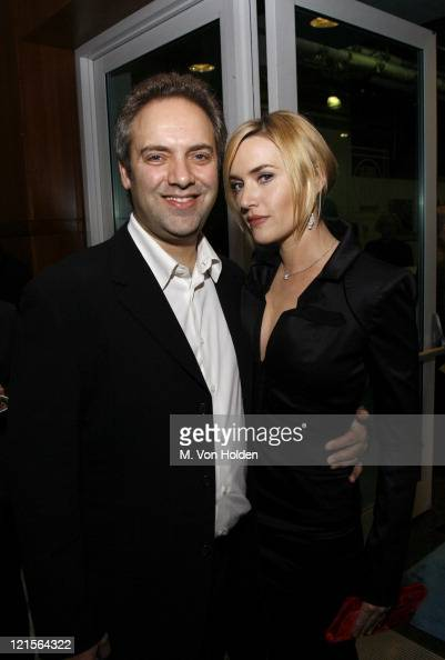 Sam Mendes and Kate Winslet during IFP's 16th Annual Gotham Awards Backstage and Green Room at Pier 60 Chelsea Piers in New York City New York United...