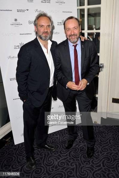 Sam Mendes and Kevin Spacey attend the after party for the opening night of Richard III at The Savoy on June 29 2011 in London England Richard III...