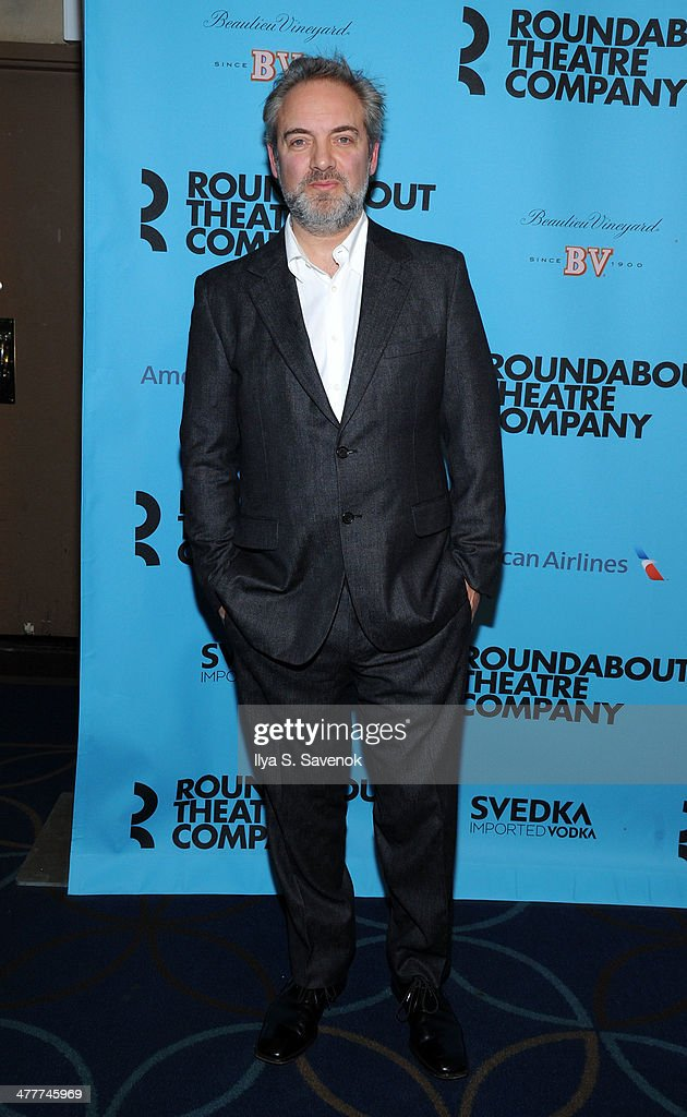 <a gi-track='captionPersonalityLinkClicked' href=/galleries/search?phrase=Sam+Mendes&family=editorial&specificpeople=211300 ng-click='$event.stopPropagation()'>Sam Mendes</a> attends Roundabout Theatre Company's 2014 Spring Gala at Hammerstein Ballroom on March 10, 2014 in New York City.