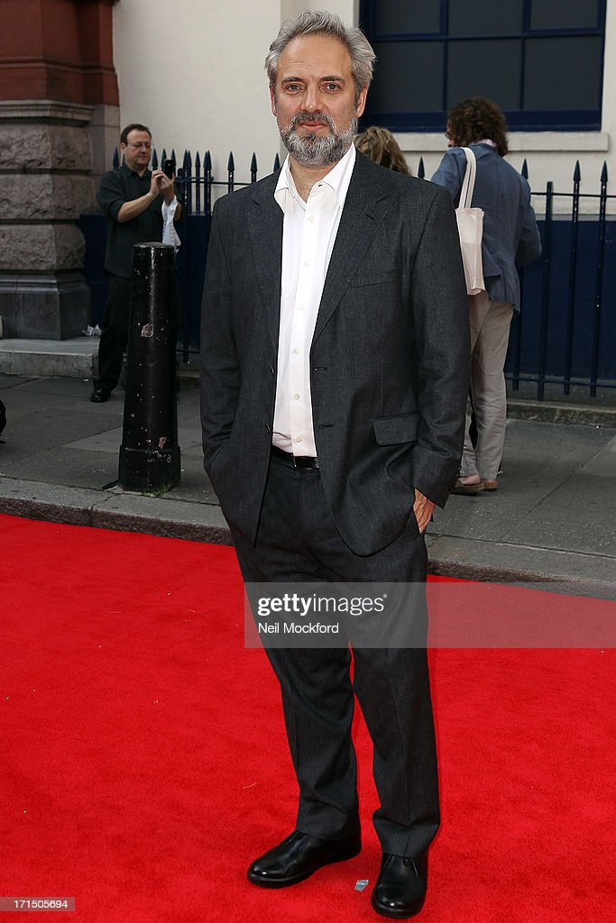 <a gi-track='captionPersonalityLinkClicked' href=/galleries/search?phrase=Sam+Mendes&family=editorial&specificpeople=211300 ng-click='$event.stopPropagation()'>Sam Mendes</a> attends the press night for 'Charlie and the Chocolate Factory' at Theatre Royal on June 25, 2013 in London, England.
