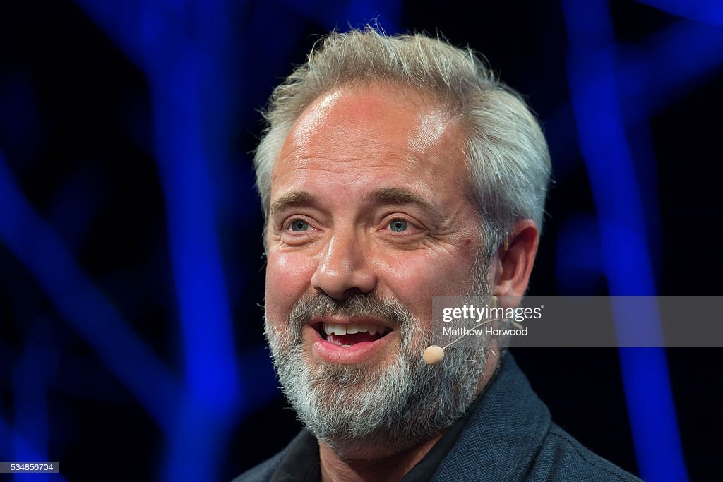 <a gi-track='captionPersonalityLinkClicked' href=/galleries/search?phrase=Sam+Mendes&family=editorial&specificpeople=211300 ng-click='$event.stopPropagation()'>Sam Mendes</a>, director of James Bond films Skyfall and Spectre and comedy-drama film American Beauty, speaks during the 2016 Hay Festival on May 28, 2016 in Hay-on-Wye, Wales. The Hay Festival is an annual festival of literature and arts now in its 29th year.