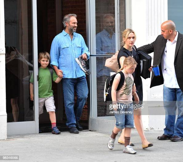 Sam Mendes Kate Winslet and their children are seen on the streets of Manhattan on April 8 2010 in New York City