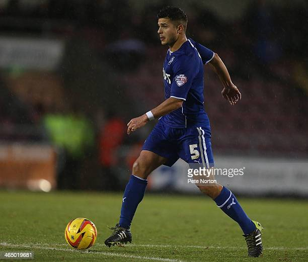 Sam Morsey of Chesterfield in action during the Sky Bet League Two match between Northampton Town and Chesterfield at Sixfields Stadium on January 25...