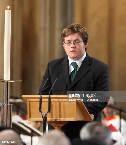 Sam Mulgrew during the service of Thanksgiving for the life of Sir Edmund Hillary at St George's Chapel Windsor