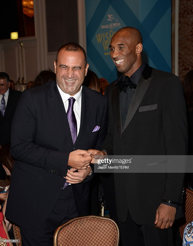 Sam Nazarian and NBA Basketball Star <a gi-track='captionPersonalityLinkClicked' href=/galleries/search?phrase=Kobe+Bryant&family=editorial&specificpeople=201466 ng-click='$event.stopPropagation()'>Kobe Bryant</a> attend the Make-A-Wish Greater Los Angeles 30th Anniversary Gala on December 4, 2013 in Los Angeles, California.