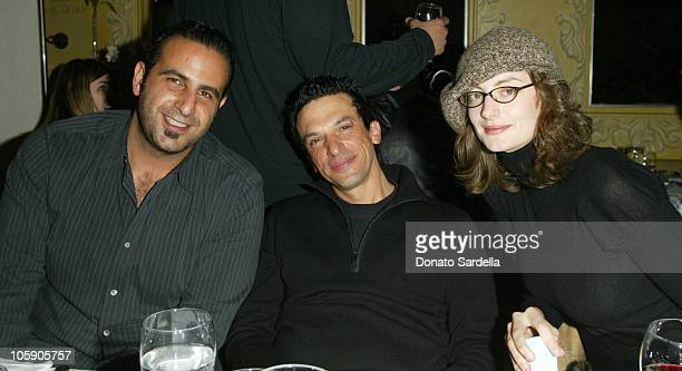 Sam Nazarian Stavros Merjos and Honor Fraser during 2004 Park City 'Home of Phobia' Dinner Sponsored by Friendster in Park City Utah United States