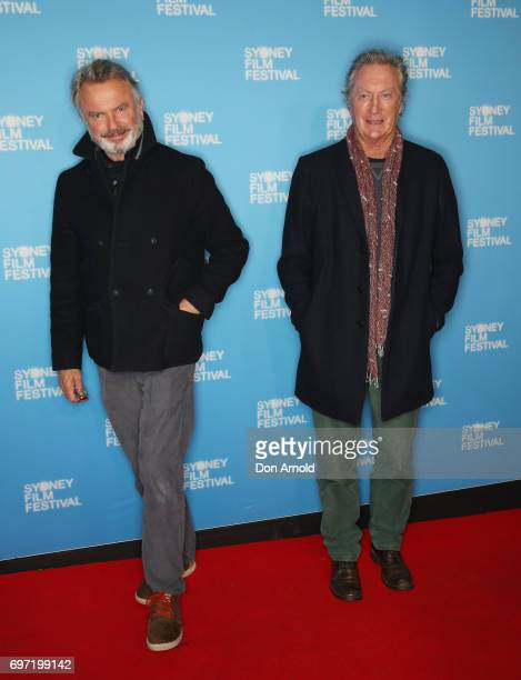 Sam Neill and Bryan Brown arrive ahead of the Sydney Film Festival Closing Night Gala and Australian premiere of Okja at State Theatre on June 18...