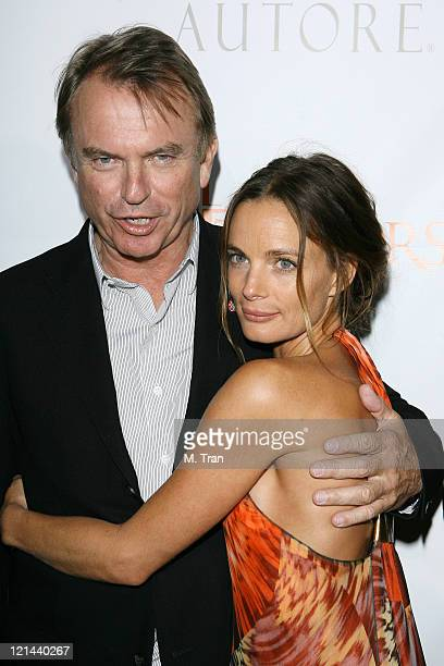 Sam Neill and Gabrielle Anwar during 'The Tudors' Los Angeles Premiere Arrivals at Egyptian Theatre in Hollywood California United States