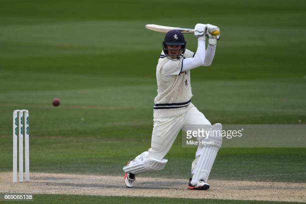Sam Northeast of Kent in action during day three of the Specsavers County Championship Division Two match between Sussex and Kent at The 1st Central...