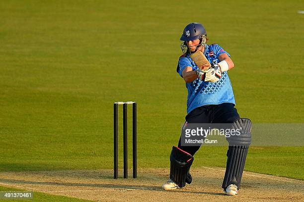 Sam Northeast of Kent plays a shot during the one day match between The Kent Spitfires and Sri Lanka played at the St Lawrence Ground on May 16 2014...