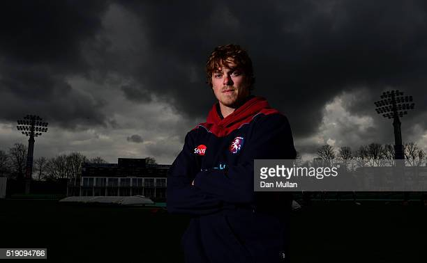 Sam Northeast of Kent poses for a portrait during the Kent CCC Photocall at The Spitfire Ground on April 4 2016 in Canterbury England