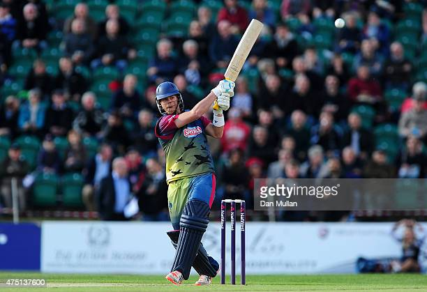Sam Northeast of Kent Spitfires bats during the NatWest T20 Blast match between Kent and Surrey at The County Ground on May 29 2015 in Beckenham...