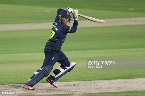 Sam Northeast of Kent Spitfires hits out during the NatWest T20 Blast South Group match at The Spitfire Ground on July 18 2017 in Canterbury England