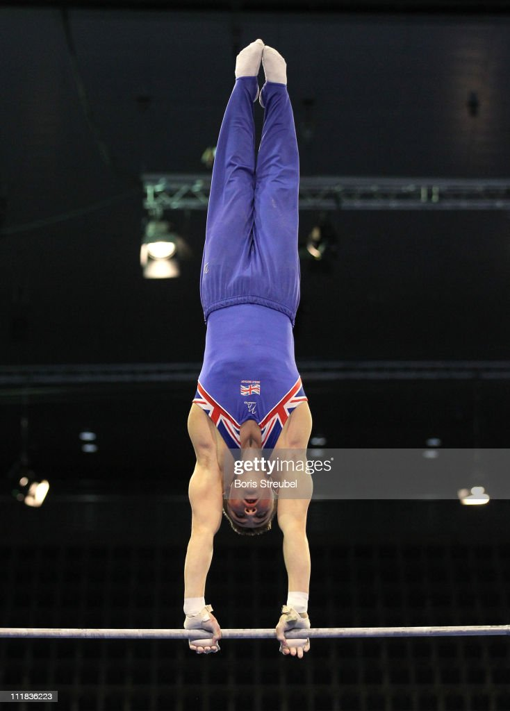 Sam Oldham Of Great Britain Performs On The High Bar During European Championships Artistic Gymnastics